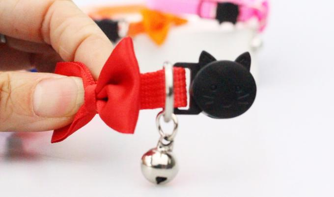 Eco - Friendly Butterfly Nylon Cat Collar Breakaway Pet Collar With Bell