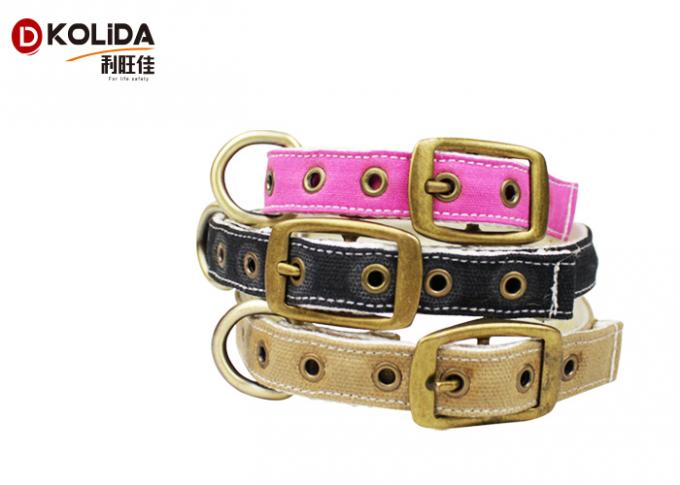 Pin Buckle Nylon Dog Collars Durable High Tensile Strength For Large Dogs
