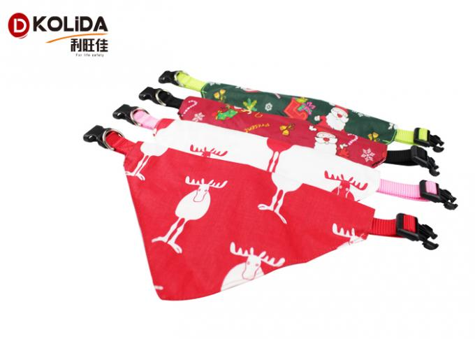 Saliva Towel Triangle Pet Collar Christmas Scarf XS S M L Size Long Service Life