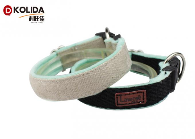 Four Sizes Reflective Dog Collars Stainlee Steel Material Ring For Walking / Training