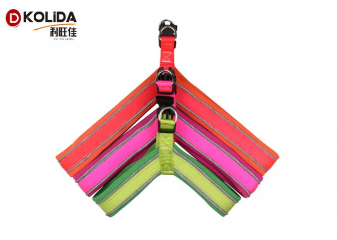 Customized Logo Nylon Dog Harness Reflective Proof Soft Mesh Material Durable