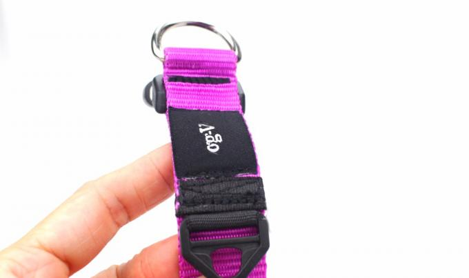 Pink Color Nature Nylon Dog Collars For Dog Training Outdoor All Seasons