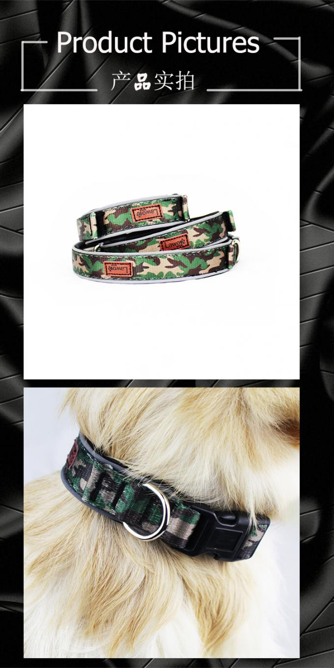 Luxury Pattern Reflective Big 	Nylon Dog Collars Products Pet Accessories Custom Dog Collar