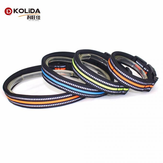 Adjustable Nylon Webbing O Ring Dog Collars For Dog Eash Washing
