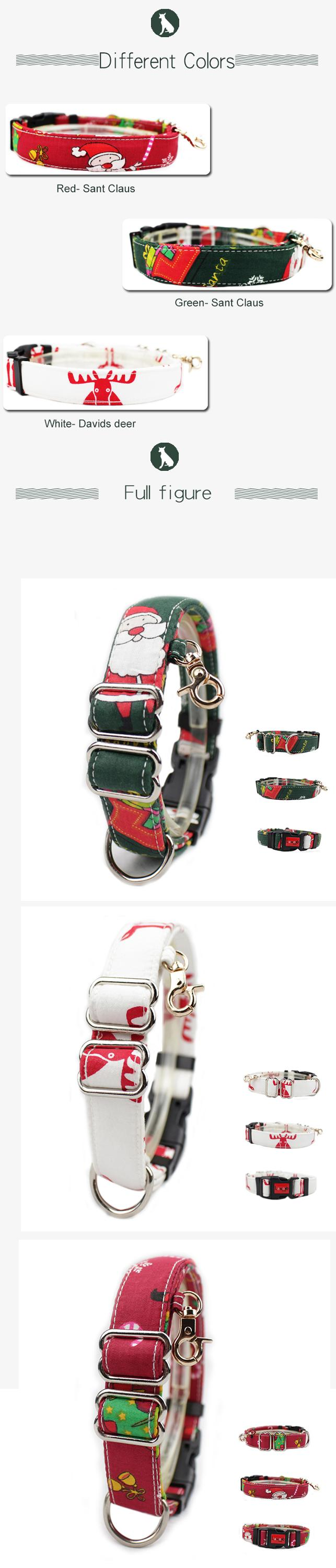 C509 New Pet Product Custom Nylon Cotton Inflatable Martingale Dog Pet Collar for Big Dog