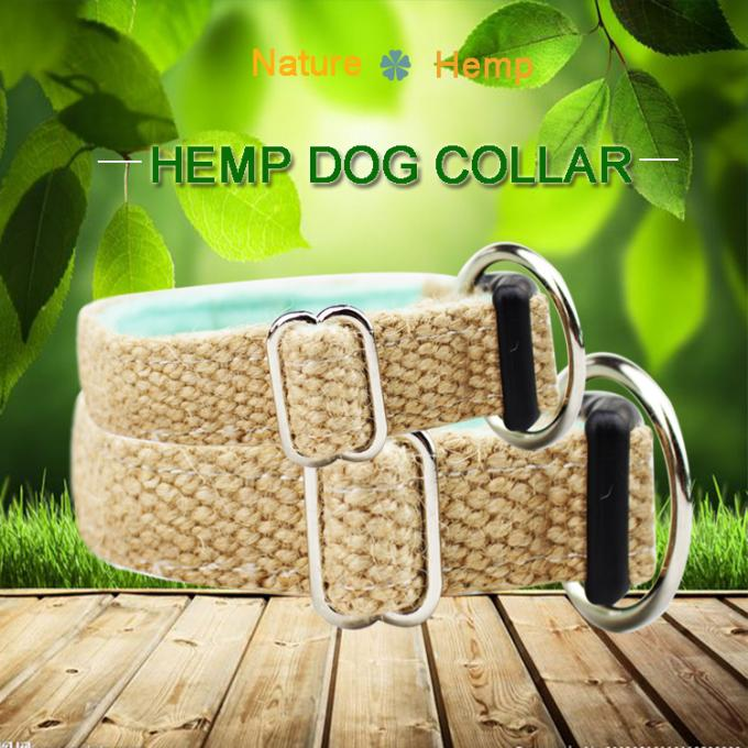 C510 Wholesale Custom Logo Luxury Pet Leash Hemp Dog Collar