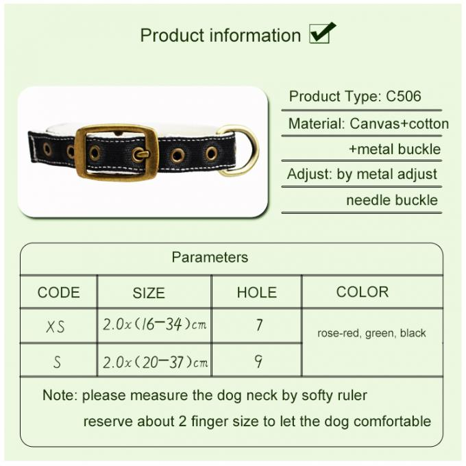 C505 Wholesale Adjustable Canvas Cotton Waterproof Pet Dog Training Collar Sublimation
