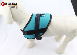 China Size S / M / L Blue Reflective Nylon Dog Harness With Neoprene Lining supplier