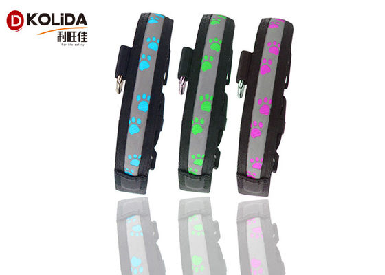 China LED Flashing Light Dog Collar and Leash Safety Pet Dog Puppy Collar Lead in Night supplier