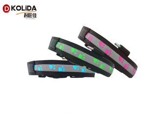 China Safety Pet Night Light LED Dog Collar , 3 Sizes Nylon Glow In The Dark Collar supplier