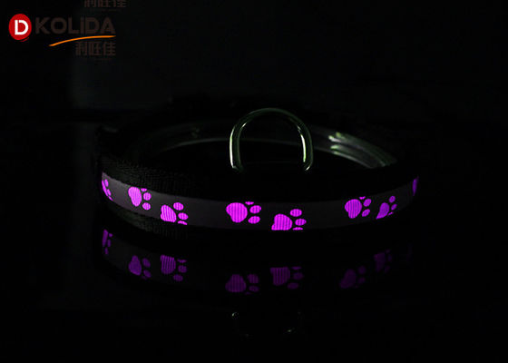 China Flashing Luminous LED Dog Safety Collar , Safety Light Up USB Lighted Dog Collars supplier