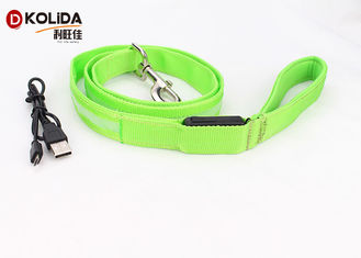 China USB Rechargeable 47.2 Inch 120cm Led Light Dog Leash Night Safety Pet Leash Neon Green supplier