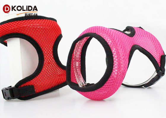 China Light weight Comfort Control Nylon Dog Harness Support Mesh Padded Vest Collar supplier
