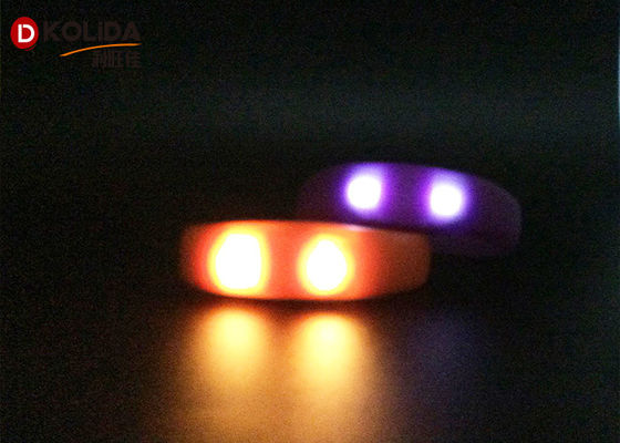 China Promotional Party Reflective Flashing Armbands Sound Activated Led Bracelet For Running supplier