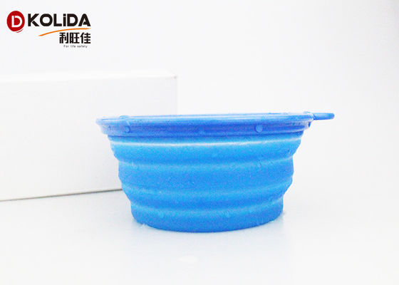 China Portable Folding Silicon Pet Food Bowls Travel Collapsible Pet Bowl supplier