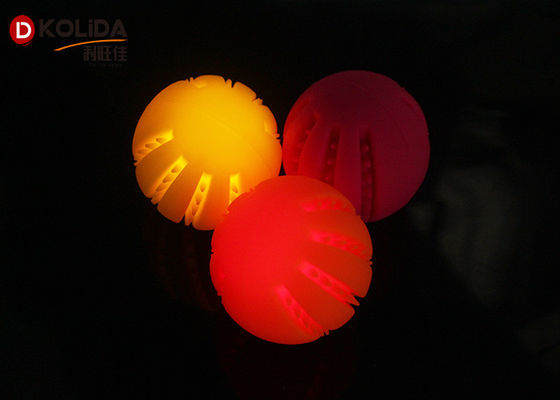 China Usb Rechargable Silicon Dog Toy Light Up Ball Blinking Puppy Pet Toy supplier