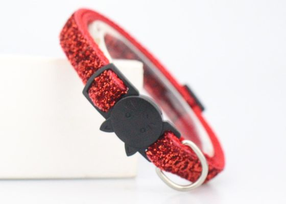 China Adjustable Buckle Soft Velvet Nylon Cat Collar For Small Puppy Pet Dog supplier