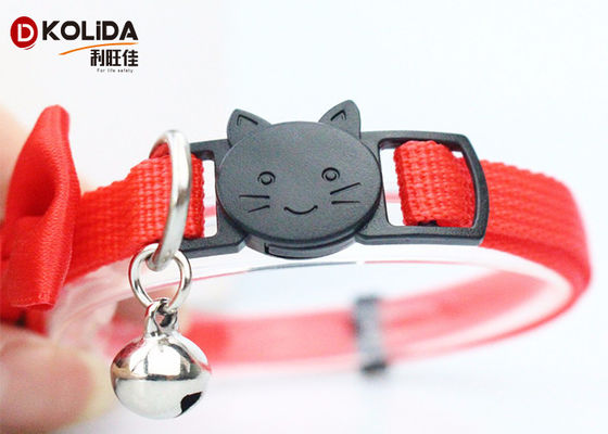 China Eco - Friendly Butterfly Nylon Cat Collar Breakaway Pet Collar With Bell supplier