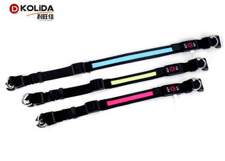 China Multi Color Safety LED Dog Collar Harness Flashing Light Up For Dark Environment  / Night supplier