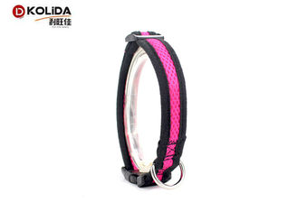 China 2.5cm Width Safety Nylon Dog Collars , Airmesh Materia Adjustable Puppy Collar supplier