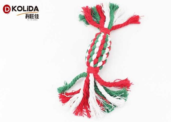 China Colorful Pet Toys Cotton Rope Material 4 x 22cm Size For Bite Training supplier