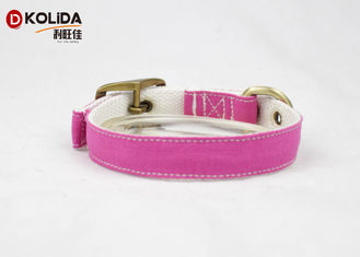 China Pin Buckle Nylon Dog Collars Durable High Tensile Strength For Large Dogs supplier