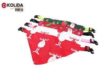 China Saliva Towel Triangle Pet Collar Christmas Scarf XS S M L Size Long Service Life supplier