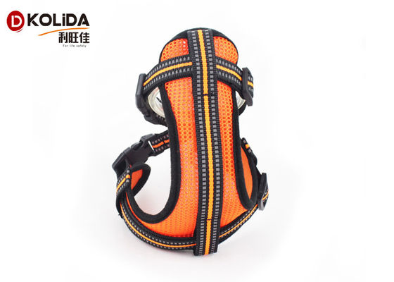 China Durable Nylon Dog Harness Vest Neoprene Led Light Material With S M L Size supplier