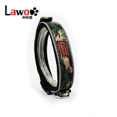 China Camouflage Pattern Nylon Material Adjustable Dog Collar With Reflector supplier