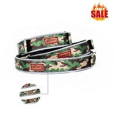 China Luxury Pattern Reflective Big Nylon Dog Collars , Pet Accessories Custom Dog Collar supplier