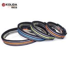 China Adjustable Reflective Plain Nylon Webbing Neoprene Dog Collars For Safety supplier