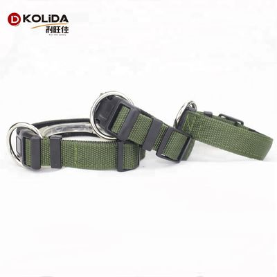 China Adjustable Nylon Webbing O Ring Dog Collars For Dog Eash Washing supplier