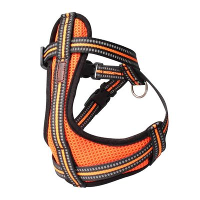Reflective Pet Dog Harness And Leash No Pull Reversible Padded Adjustable Step In Mesh