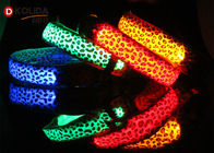 Nylon LED Dog Collar LED Flashing Light Up Night Safety Pet Collars 8 Color