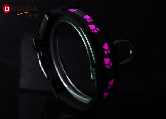 China Reflective USB Rechargeable LED Dog Collar For Small / Medium Dog Cat Collar factory