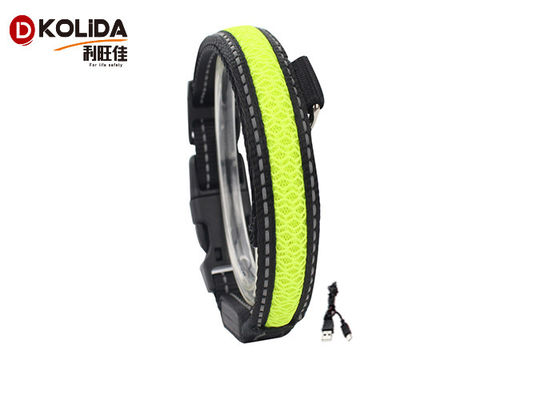 China Flashing Glow In The Dark Dog Collar Waterproof Lighted Dog Collar  Size S M L distributor