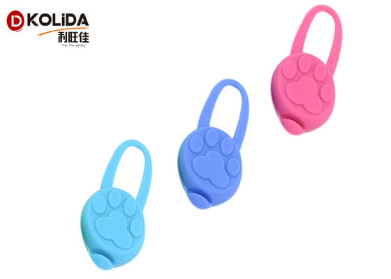 China Durable Elastic Silicon Lighted Dog / Cat Collars Flashing Lights Safety Flasher Blinker distributor