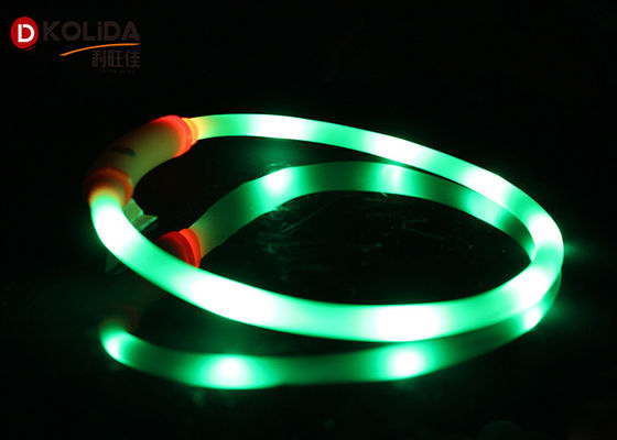 China Flashing Silicon Puppy Pet Led Light Necklace Led Dog Collar Waterproof distributor