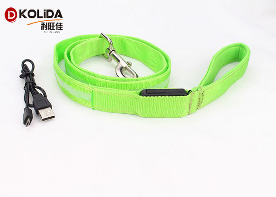 China USB Rechargeable 47.2 Inch 120cm Led Light Dog Leash Night Safety Pet Leash Neon Green factory