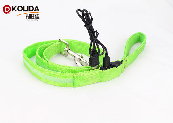 China High Visibility Polyster Heavy Duty Retractable Dog Leash With Colorful Ribbon Fabric factory