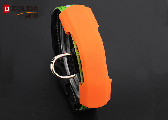 China Silicon Adjusable Dog Collar Lights Waterproof Protect Collar factory