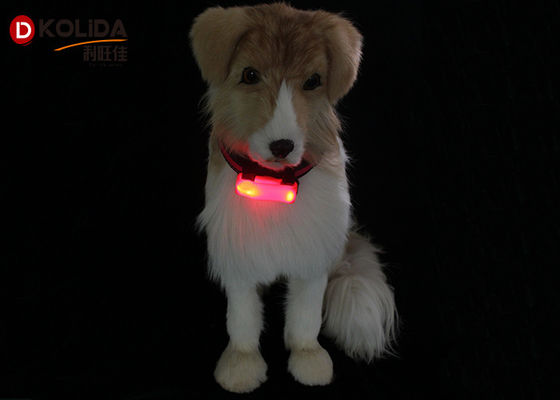 China Weather Resistant Nylon LED Flashing Dog Night Light Attacher Pet Protect Collars distributor
