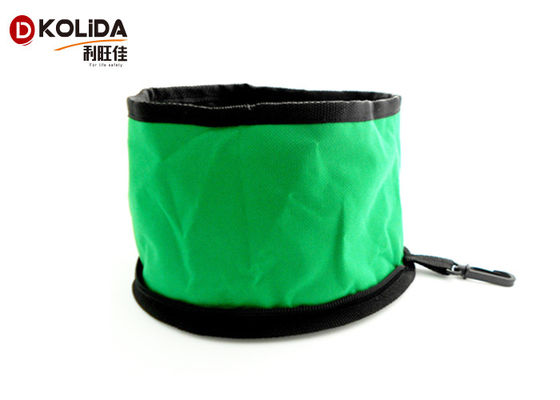 China 600D Waterproof Portable Folding Travel Collapsible Pet Food Bowls Dog Water Bowl distributor