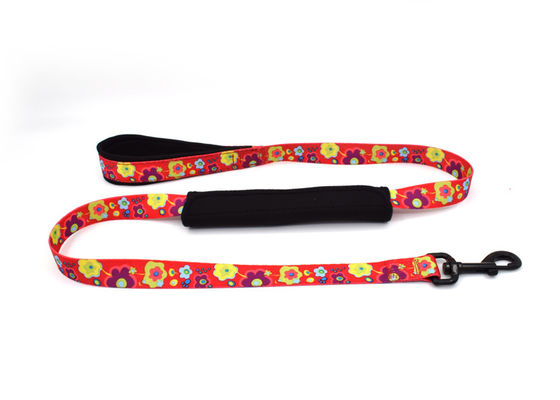 China Green / Red Easy Close Nylon Dog Leash , Durable Small / Large Dog Leash distributor