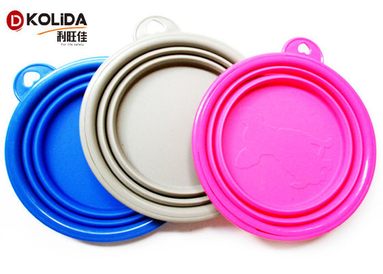 China Portable Travel Collapsible Puppy Feeding Bowl Rubber And Silicone Dog Bowl distributor