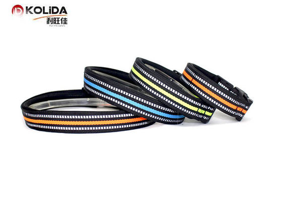 China Blue / Green / Orange Nylon Dog Collars , Reflective Dog Collars 4 Sizes 150g Weight factory
