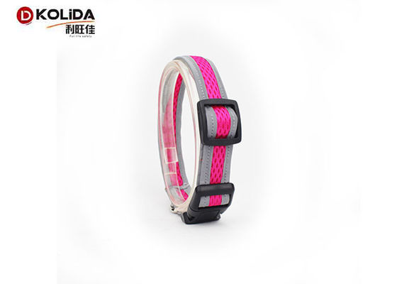 China 3M Stripe Reflective Dog Collars Duraflex Buckle For Doggie Walking distributor