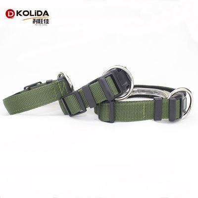 China Adjustable Stylish Nylon Dog Collars All Seasons Customized Brand Logo factory