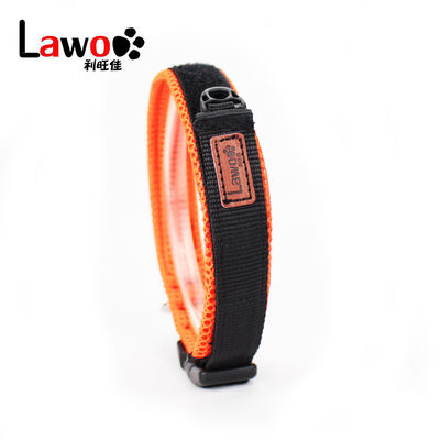 China Nylon Webbing Adjustable Dog Collar / New Design Reflective Dog Collars factory