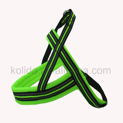 China Easy Clean Flash Light Nylon Dog Harness Rope Leash New Technology factory